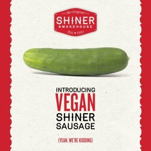 The first of many in a new campaign to launch Shiner Sausage